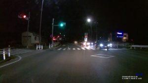 DRV-240で撮った夜の道路