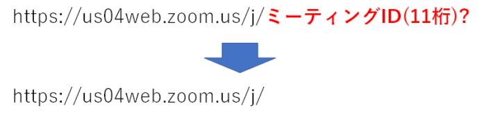 ZoomのURLからミーティングIDも入力させる方法