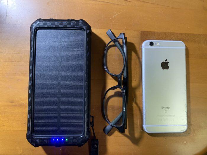 モバイルバッテリーの大きさを比較